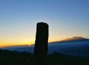 Sunset behind Amiata